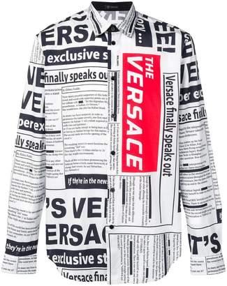 Versace newspaper print shirt