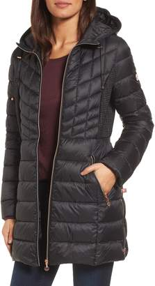 Bernardo Hooded Packable Down & PrimaLoft(R) Coat