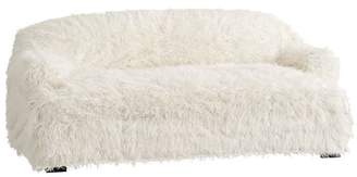 Pottery Barn Teen Dorm Faux-Fur Furlicious Loveseat Slipcover