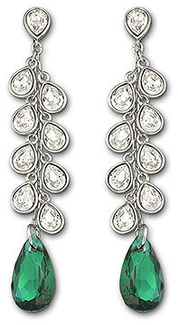 Noumea Emerald Pierced Earrings