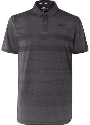 8c7378dff Nike Zonal Cooling Striped Jersey And Mesh Golf Polo Shirt