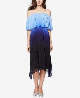 RACHEL Rachel Roy Off-The-Shoulder Ombré Midi Dress $159 thestylecure.com