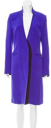 J. Mendel Collarless Knee-Length Coat