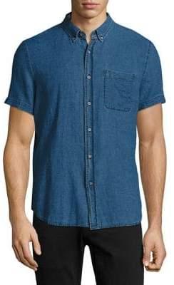AG Jeans Short-Sleeve Denim Shirt