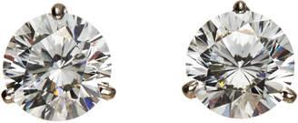 FANTASIA 10K White Gold Martini Stud Earrings
