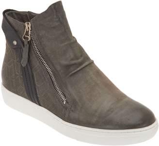 Miz Mooz Leather Zip-Up Sneakers - Lulu