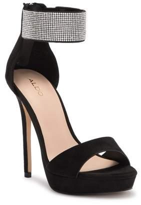 Aldo Wicelani Embellished Ankle Strap Platform Sandal