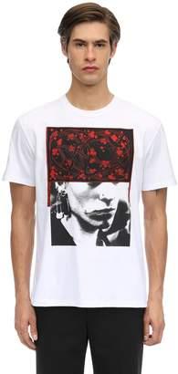 Raf Simons Slim Fit Pierced Mouth Print T-shirt