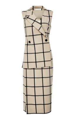 Monse Louise Plaid Asymmetrical Dress