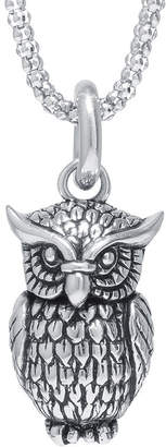 JCPenney FINE JEWELRY Sterling Silver Owl Pendant Necklace