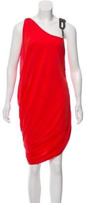 Haute Hippie Gathered Asymmetrical Dress