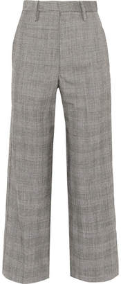 Bassike Checked Wool Straight-leg Pants