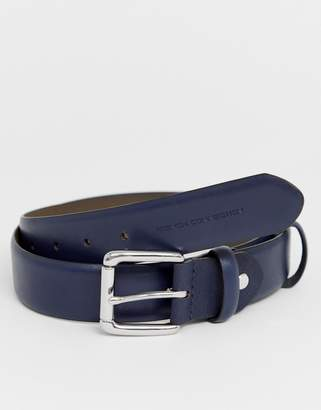 French Connection saffiano double keeper belt
