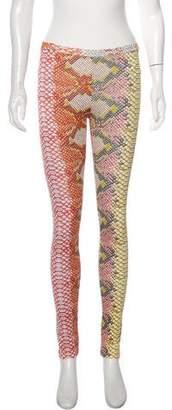 Just Cavalli Printed Mid-Rise Leggings w/ Tags