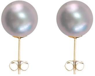 ORA Pearls - Small Grey Pearl Stud Earrings 9ct Gold