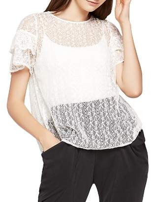 BCBGeneration Flyaway-Back Lace Top