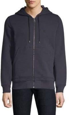 Burberry Core Zip-Front Hoodie