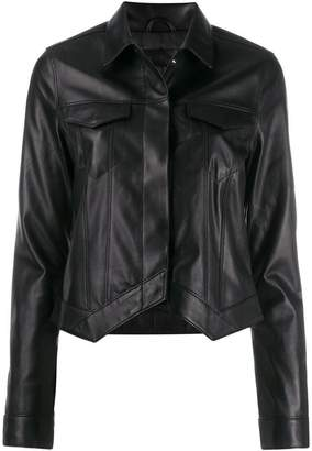 RtA trucker leather jacket