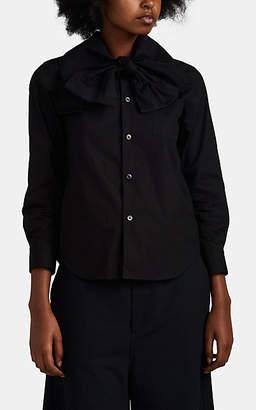 Comme des Garcons Women's Cotton Poplin Tieneck Blouse - Black
