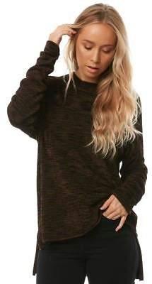 Volcom New Women's Yarn Moji Sweater Long Sleeve Nylon Elastane Black
