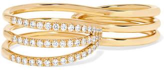 Melissa Kaye - 18-karat Gold Diamond Two-finger Ring