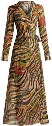 DAY Birger et Mikkelsen ADRIANA IGLESIAS Beverly zebra-print silk chiffon dress
