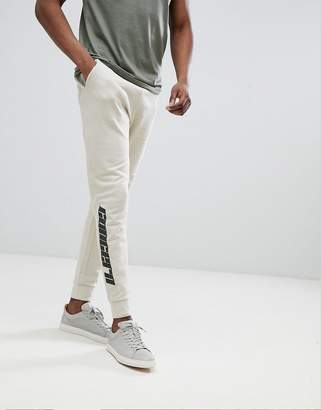 Asos Design DESIGN Skinny Joggers With Text Print