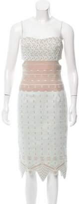 Jonathan Simkhai Lace Cutout Midi Dress
