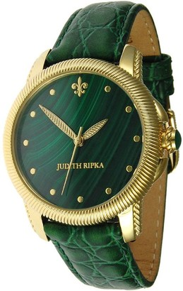 Judith Ripka Stainless Steel Gemstone Dial Watch