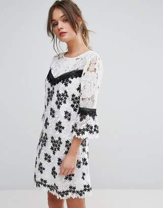 Miss Selfridge Mono Lace Organza Dress