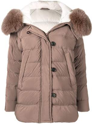 Peuterey fur hood trim puffer jacket