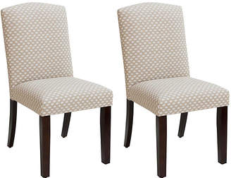 One Kings Lane Set of 2 Marie Side Chairs - Flax Dot