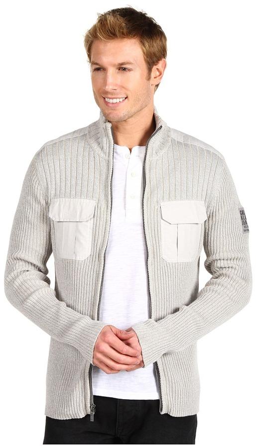 Calvin Klein Jeans The Military Cardigan (Lunar Rock) - Apparel