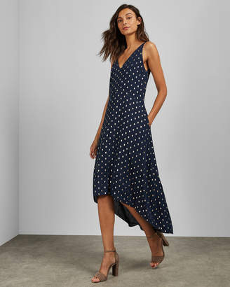 Ted Baker PRINTAA V neck waterfall midi dress