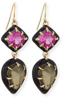 Alexis Bittar Pyrite Doublet & Ruby Corundum Earrings $225 thestylecure.com