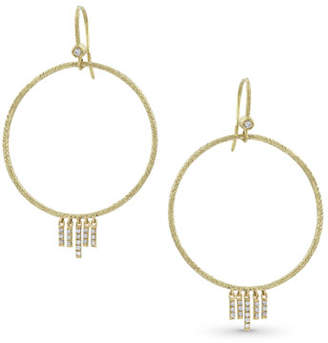 Dominique Cohen 18k Gold Diamond Chevron Drop Earrings