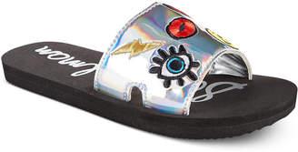 Sam Edelman Eli Patch Slide Sandals, Little Girls (11-3) & Big Girls (3.5-7) $25 thestylecure.com