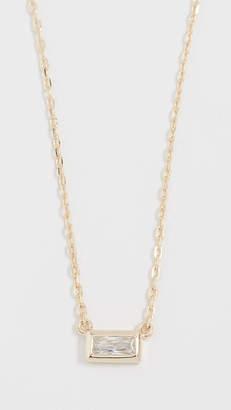 Shashi Baguette Solitaire Necklace