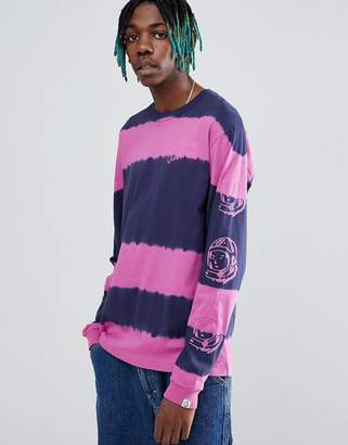 Billionaire Boys Club Bleach Striped Long Sleeve T-Shirt In Blue