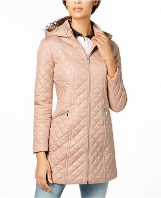 Via Spiga Hooded Quilted Coat