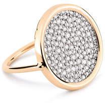 ginette_ny Ever 18k Rose Gold White Diamond Disc Ring, Size 7