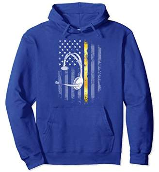 Dispatching Thin Gold Line American Flag Dispatcher Hoodie