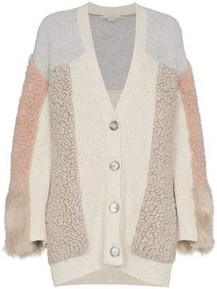 Stella McCartney faux fur patchwork cardigan