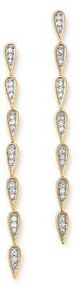 Adina 14K Yellow Gold Pavé Diamond Teardrop Link Earrings