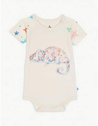 Noë & ZOE Parrot and dot print cotton bodysuit 0-18 months