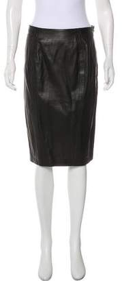 L'Agence Leather Pencil Skirt