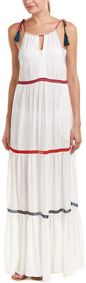 Red Carter Tiered Maxi Cover-Up