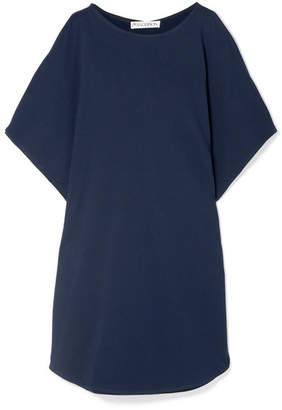 J.W.Anderson Draped Cotton-jersey Top - Navy