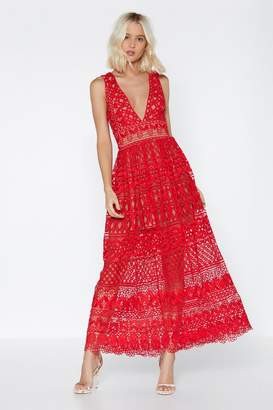 Nasty Gal In Lace of Emergency Dress