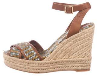 68a0ab64a Tory Burch Woven Wedge Sandals For Women - ShopStyle Australia